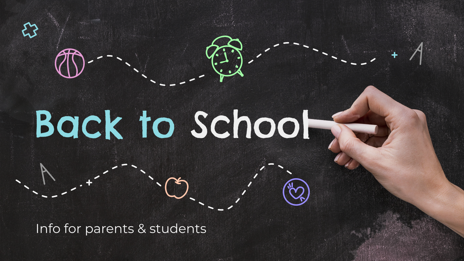 Back to School: Info for Parents & Students presentation template