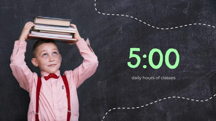 Modelo de apresentação Volta às aulas: info para pais e alunos