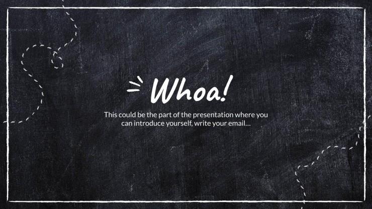 Plantilla de presentación ¡Escribamos en la pizarra!