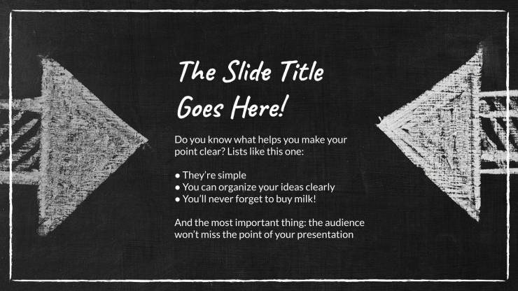 À vos craies ! : Modèles de présentation