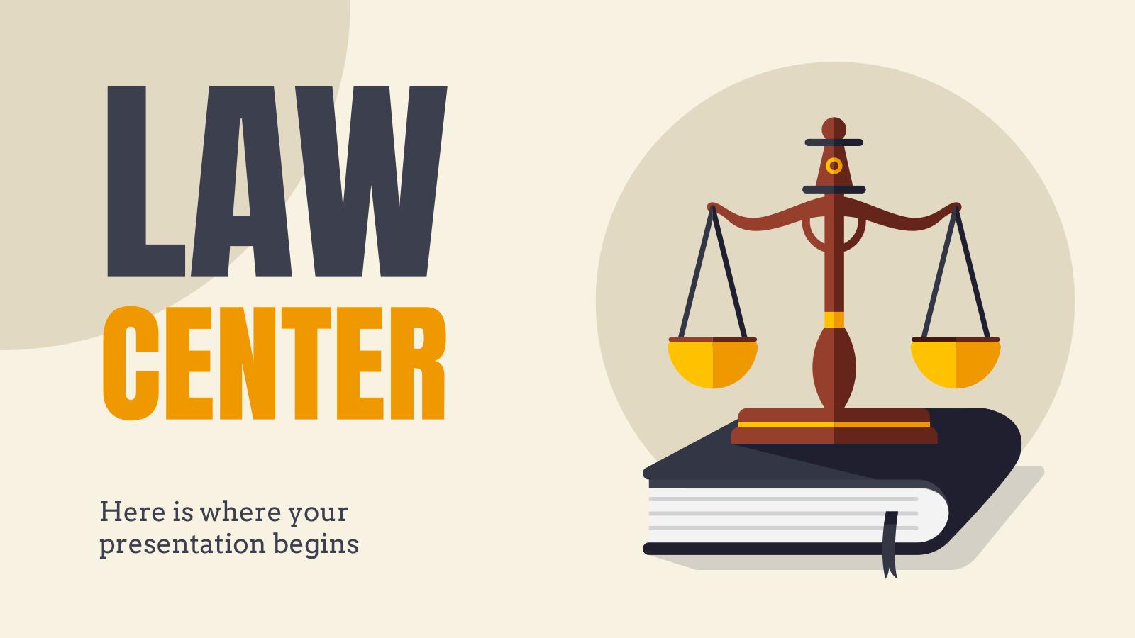 Centre juridique : Modèles de présentation