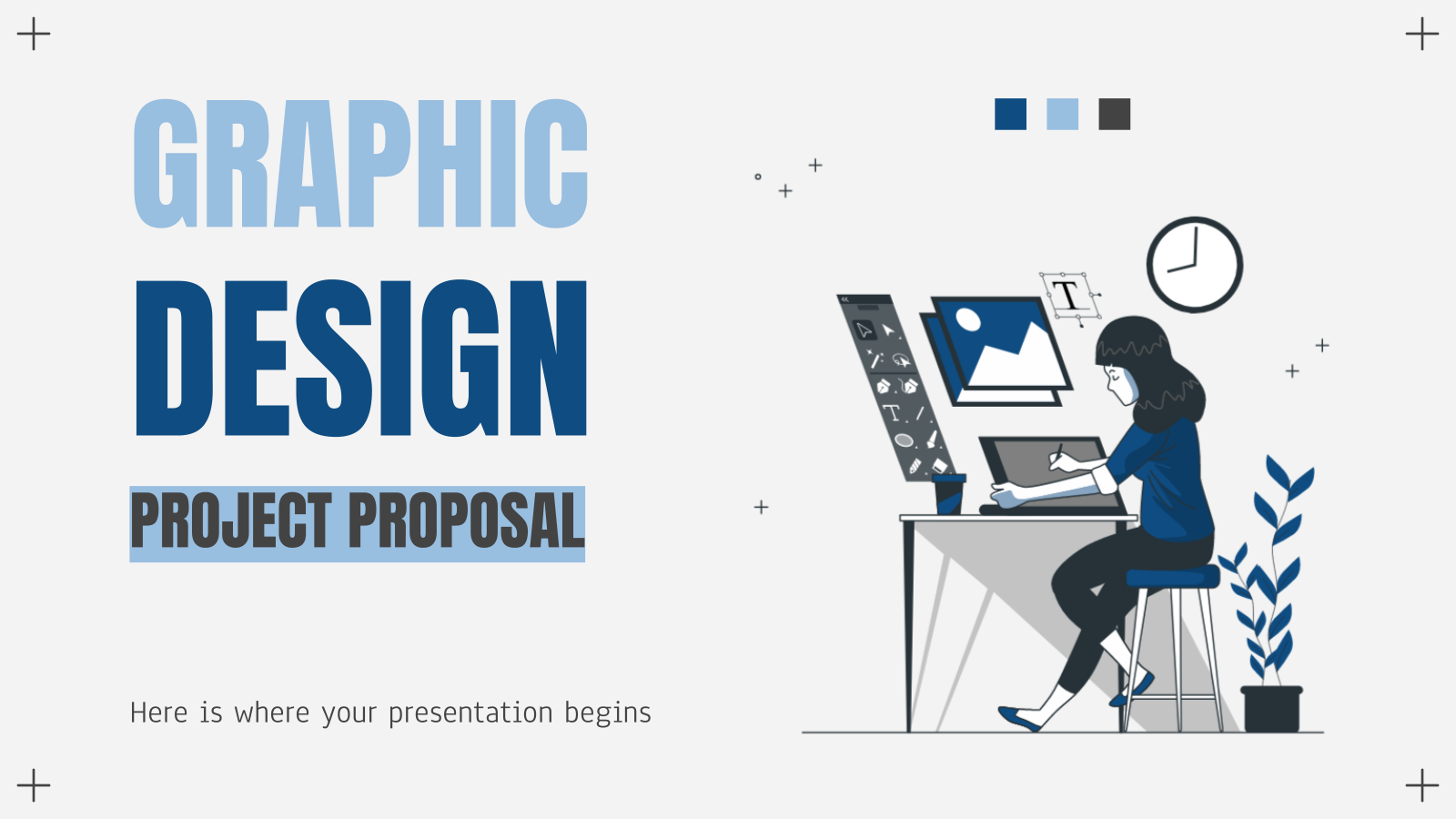 Graphic Design Project Proposal presentation template