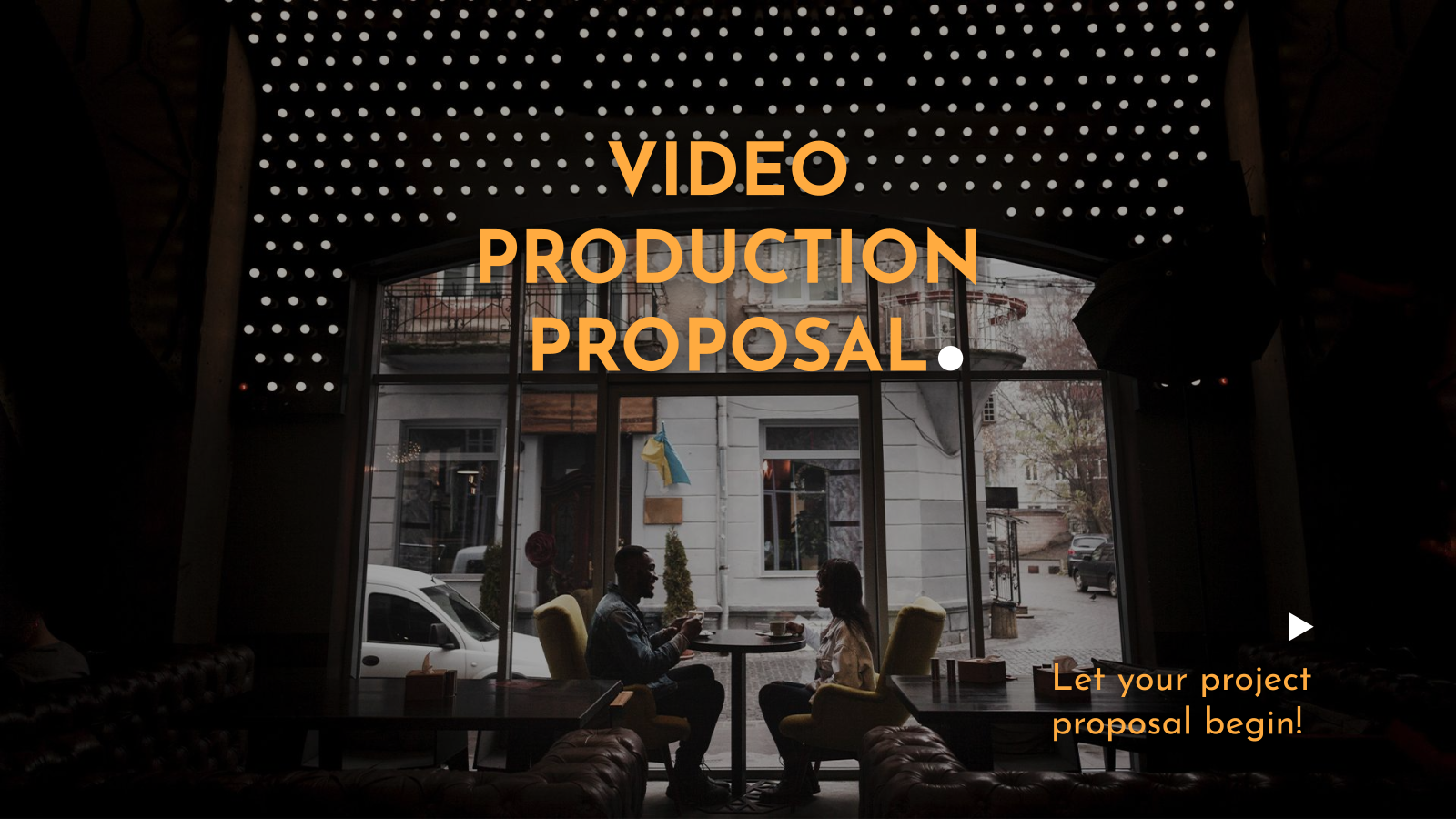Modelo de apresentação Proposta de produção de vídeo