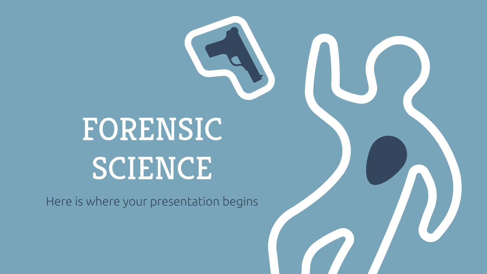 Forensic Science Thesis presentation template