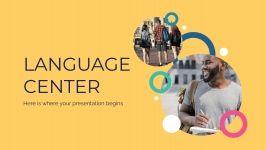 École de langues Theme : Modèles de présentation