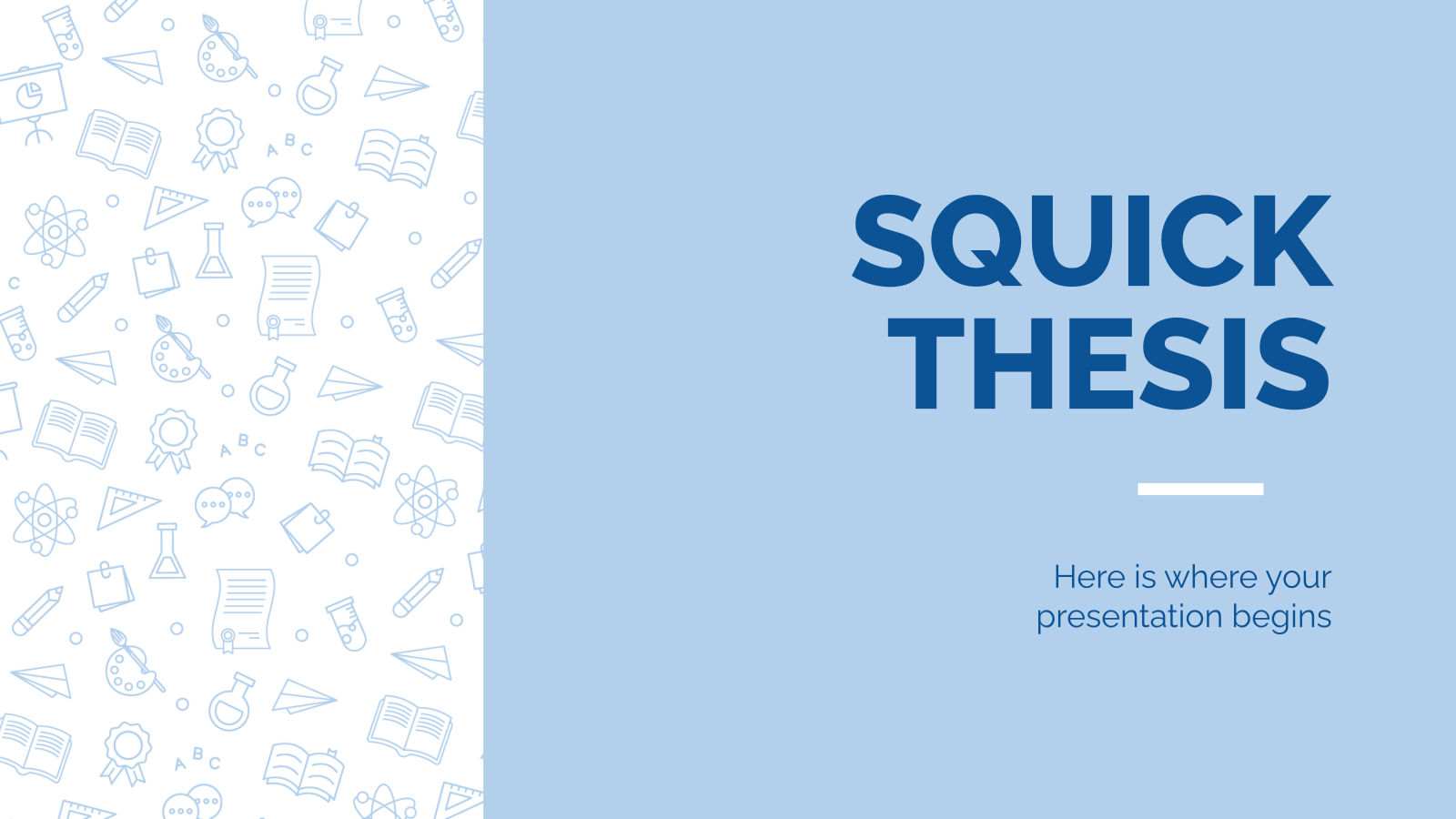Squick Thesis presentation template