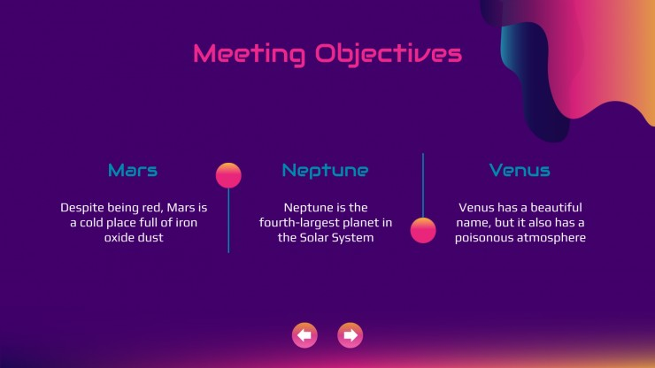Megame Futuristic Meeting presentation template
