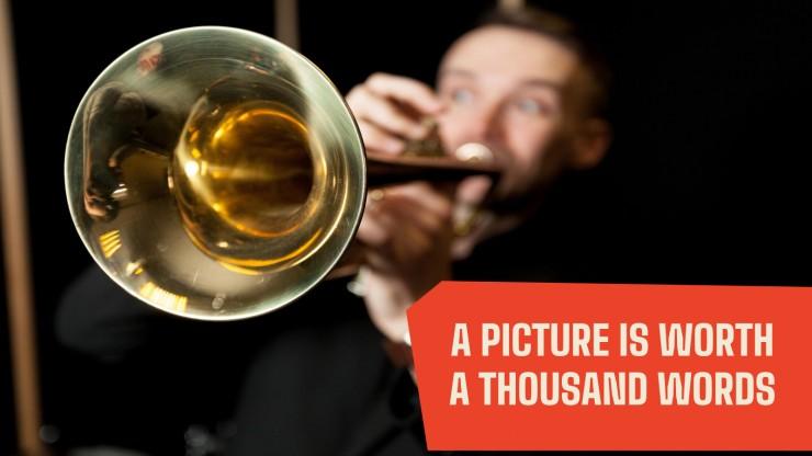 Jazz-Festival Marketing-Kampagne Präsentationsvorlage