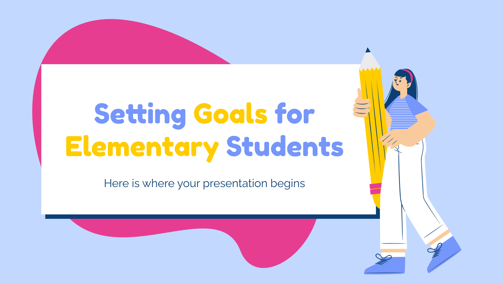 Setting Goals for Elementary Students presentation template