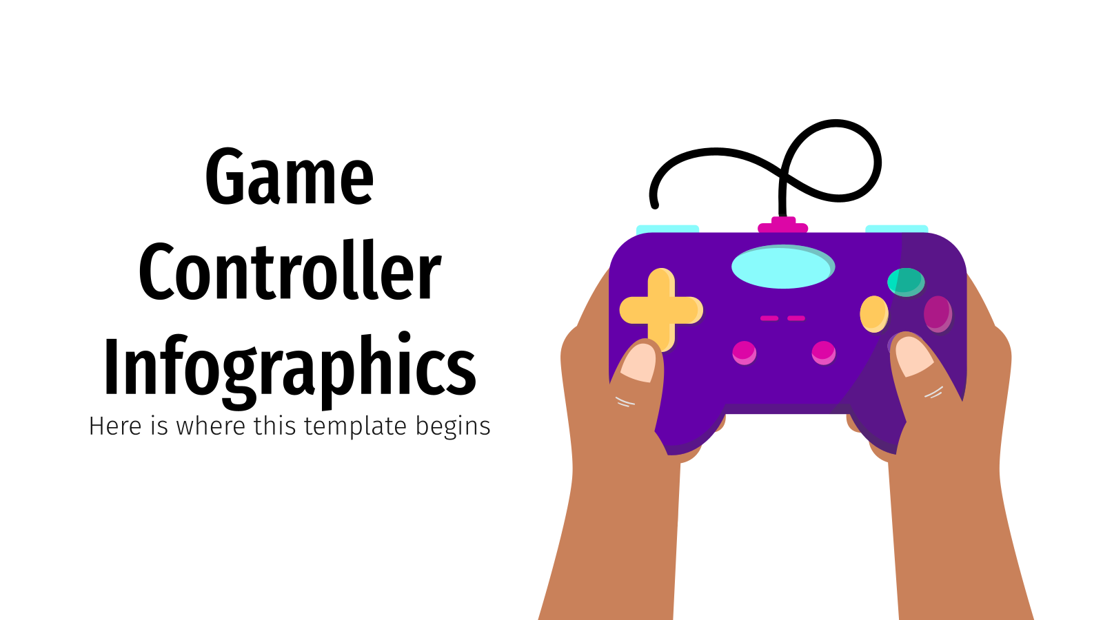 Game Controller Infographics presentation template