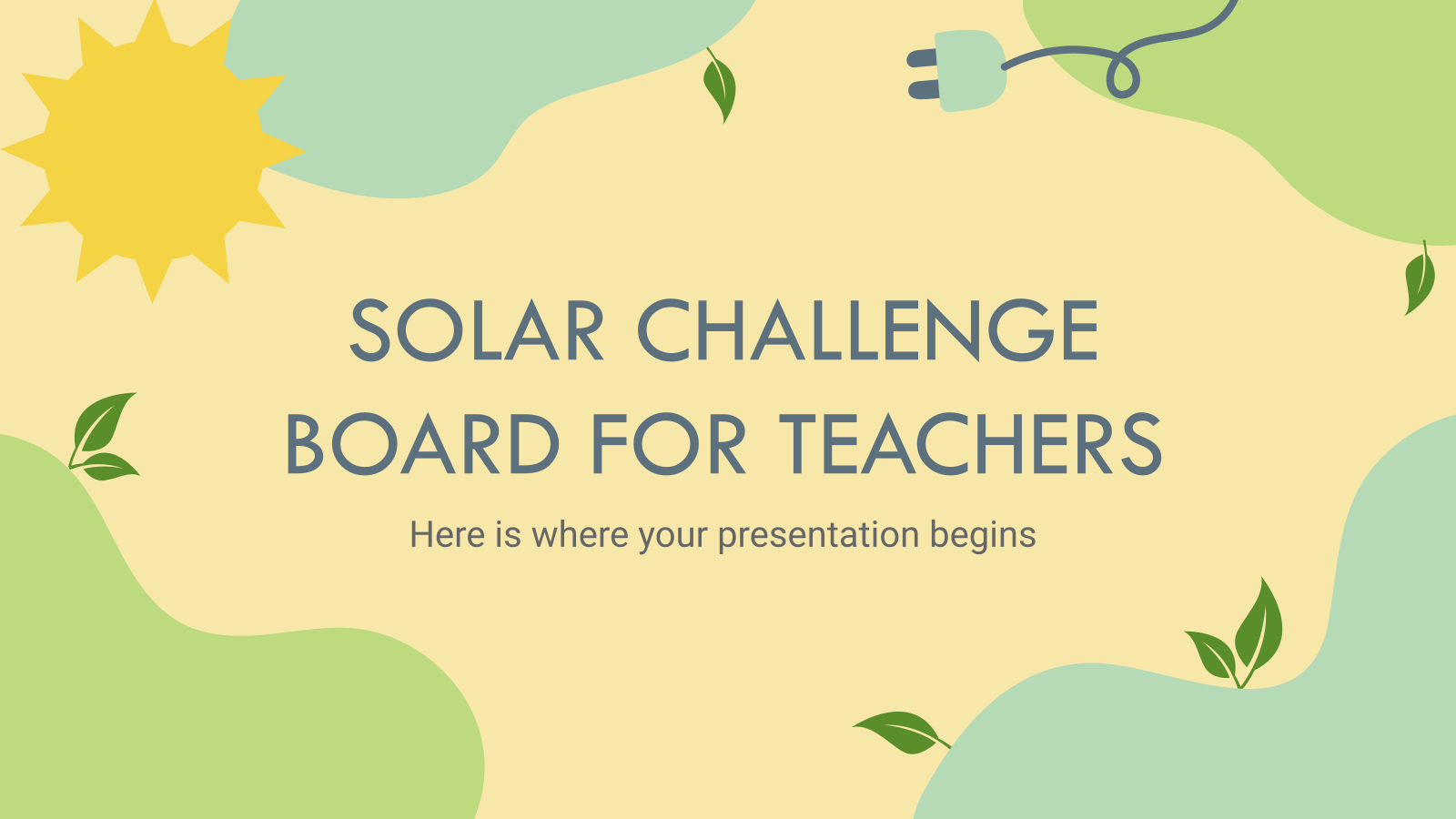 Solar Challenge Board for Teachers presentation template