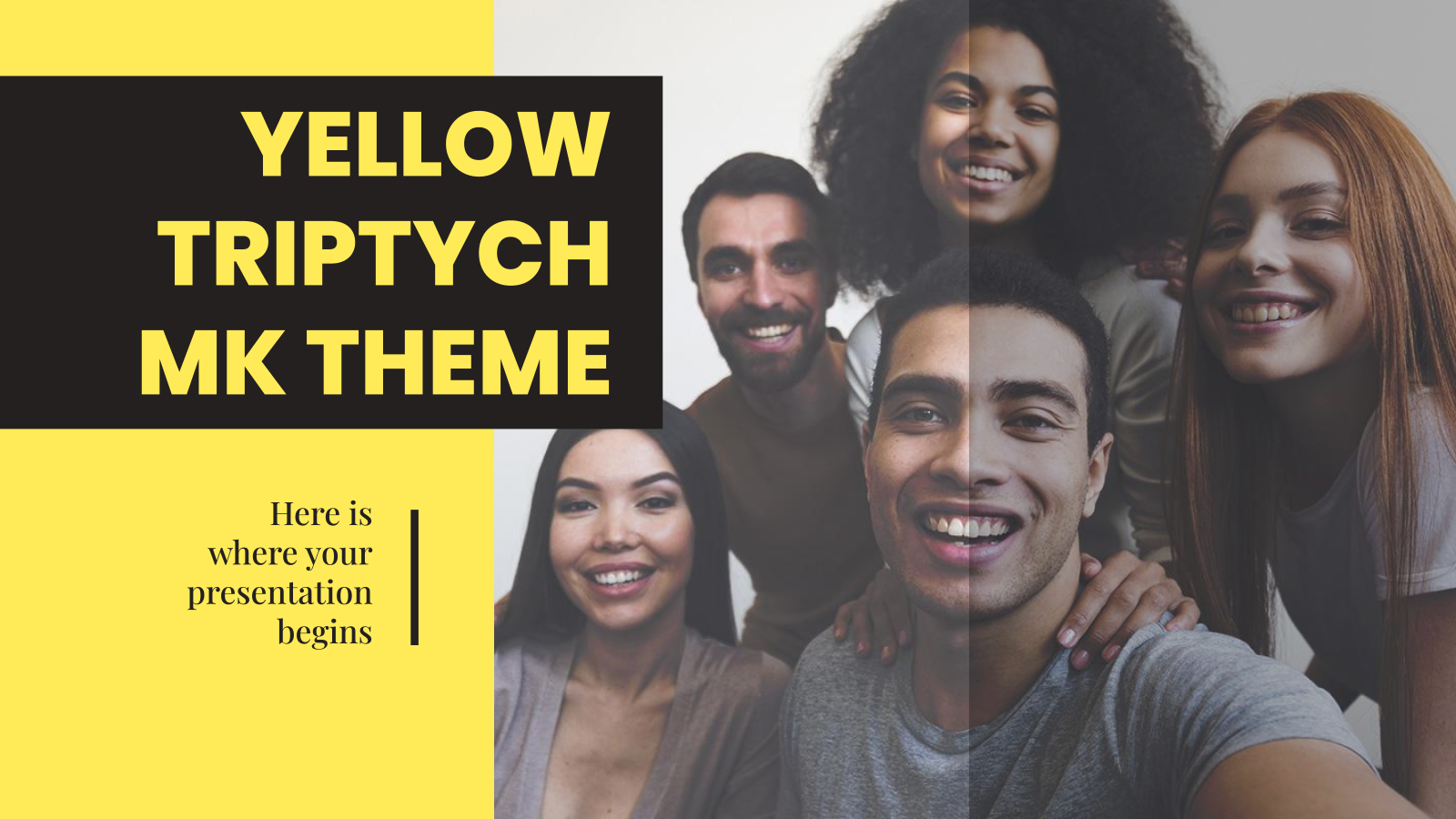 Yellow Triptych MK Theme presentation template