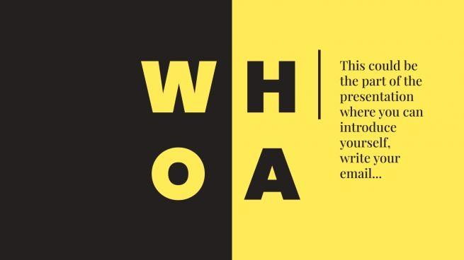 Plantilla de presentación Tríptico amarillo para marketing