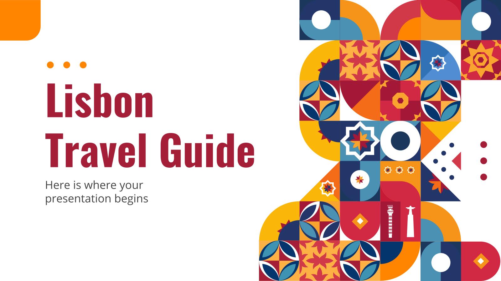 Plantilla de presentación Guía de viaje de Lisboa
