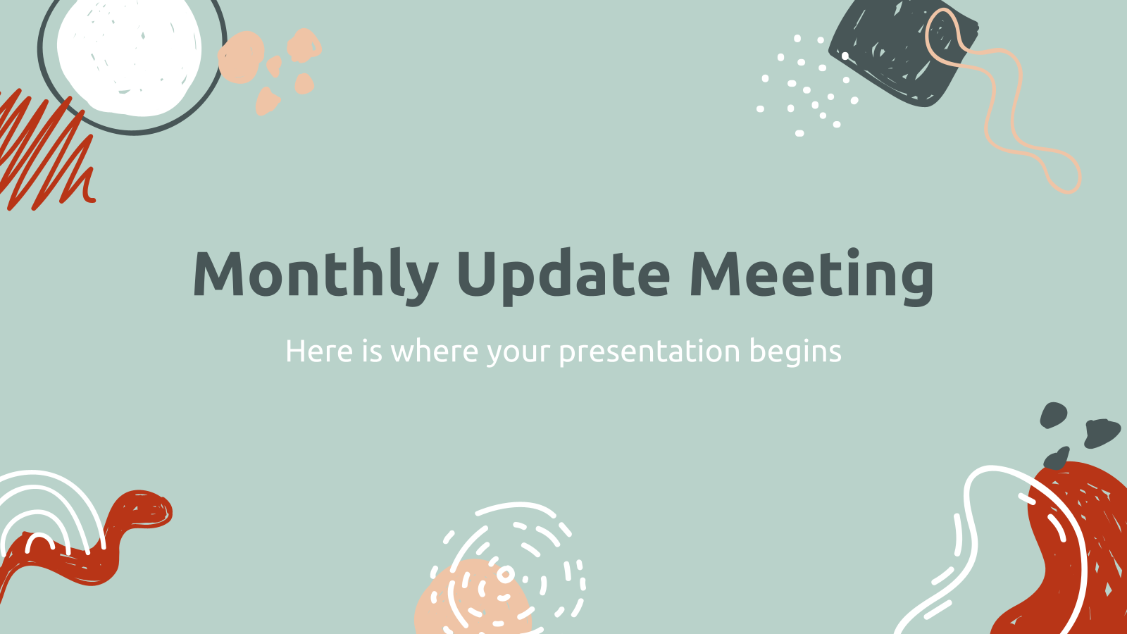 Monthly Update Meeting presentation template