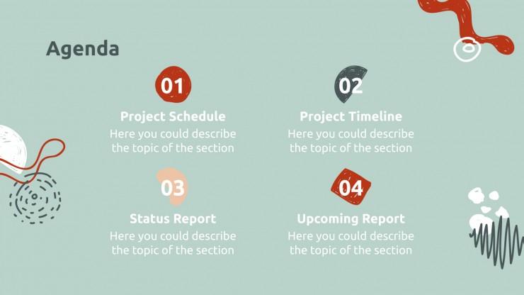 Plantilla de presentación Informe para reunión mensual
