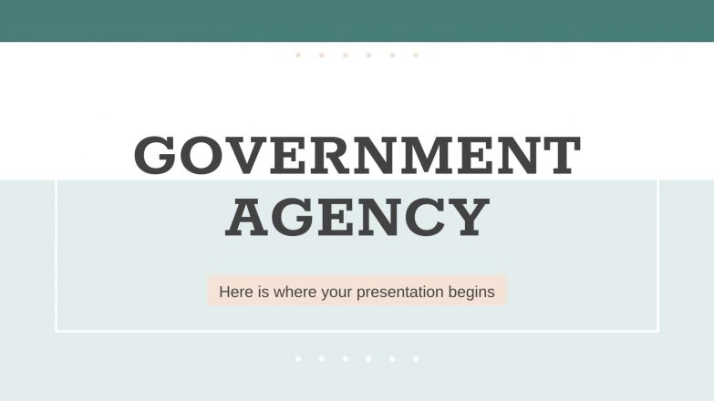 Agence gouvernementale : Modèles de présentation