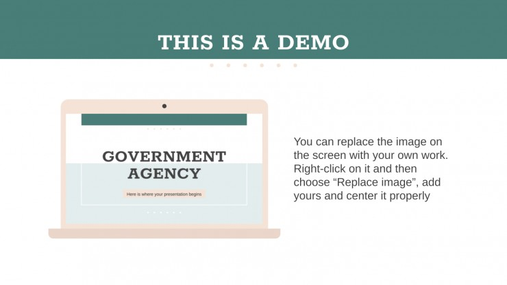 Modelo de apresentação Agência governamental
