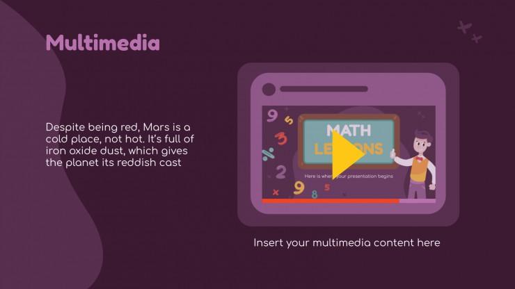 Cours de mathématiques amusant : Modèles de présentation