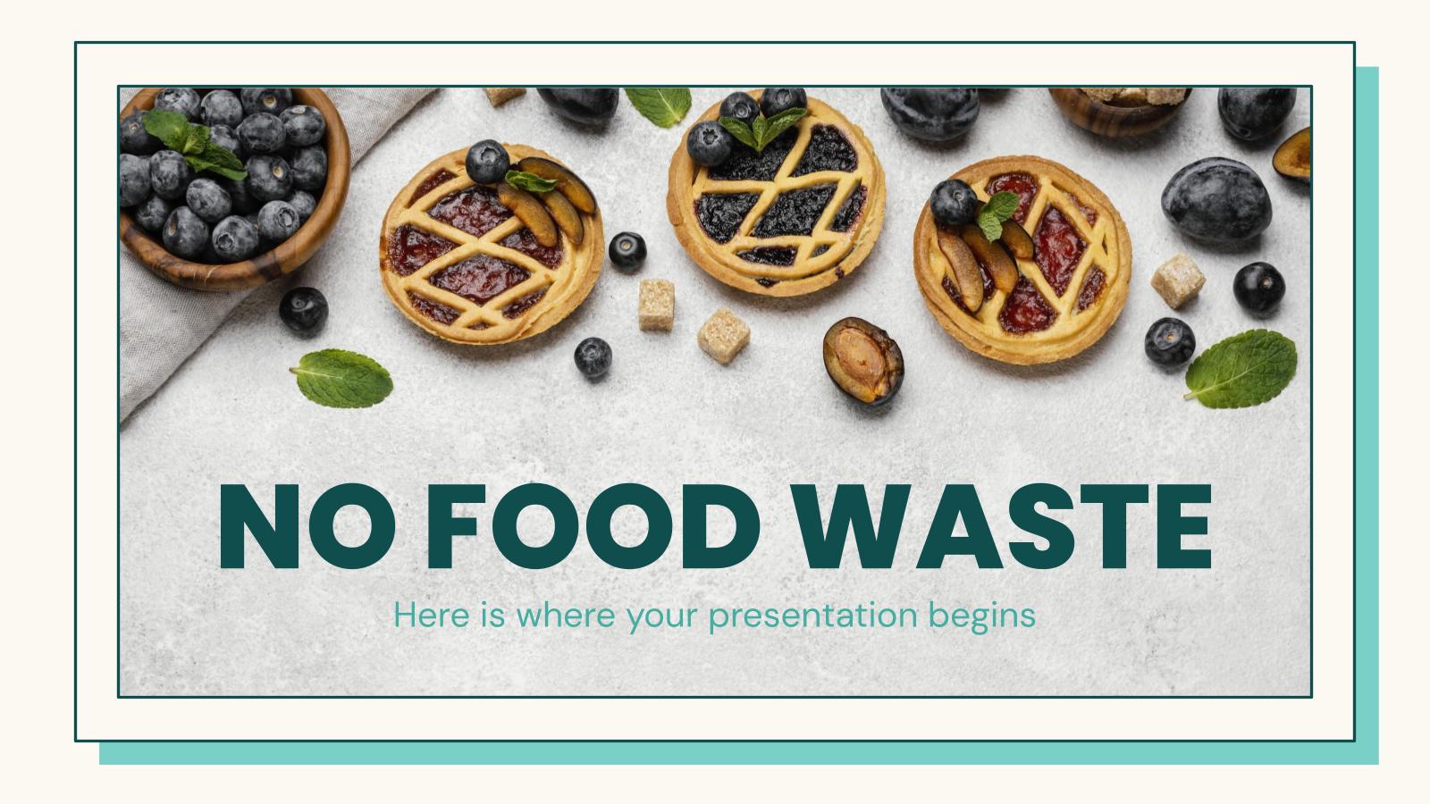 Plantilla de presentación Pitch deck contra el desperdicio de comida