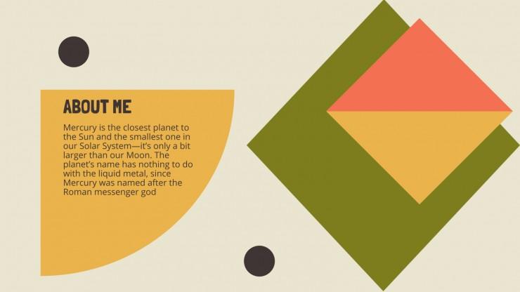 Plantilla de presentación Currículum geométrico