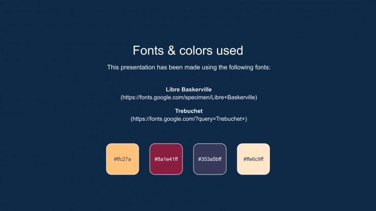 Elegant Style University Lesson presentation template
