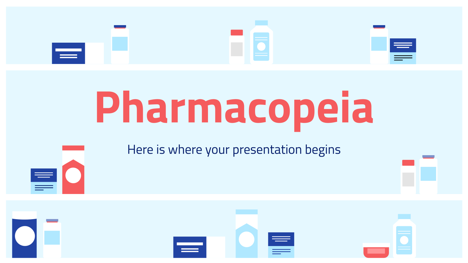 Pharmacopée : Modèles de présentation