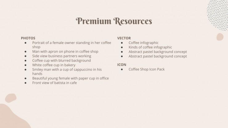 Modelo de apresentação Um cafezinho