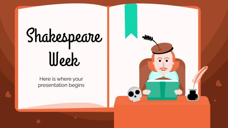 Plantilla de presentación Semana de Shakespeare