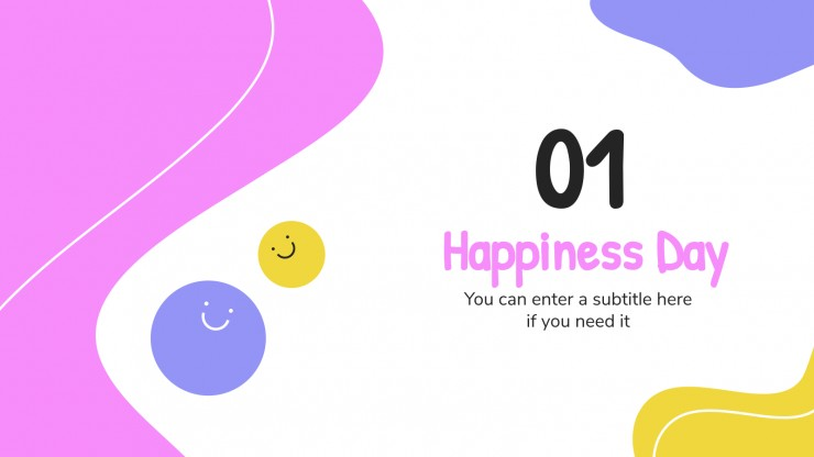 International Day of Happiness presentation template