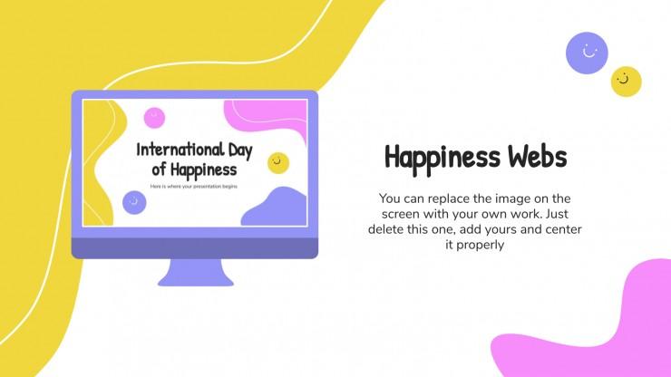 Modelo de apresentação Dia Internacional da Felicidade