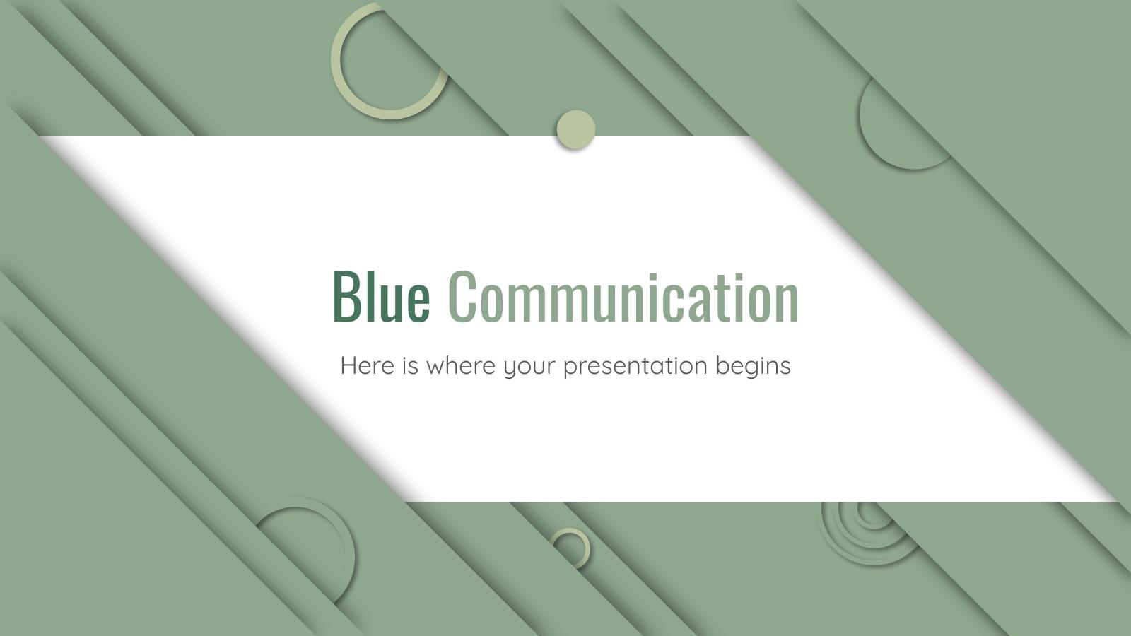 Communication bleu : Modèles de présentation