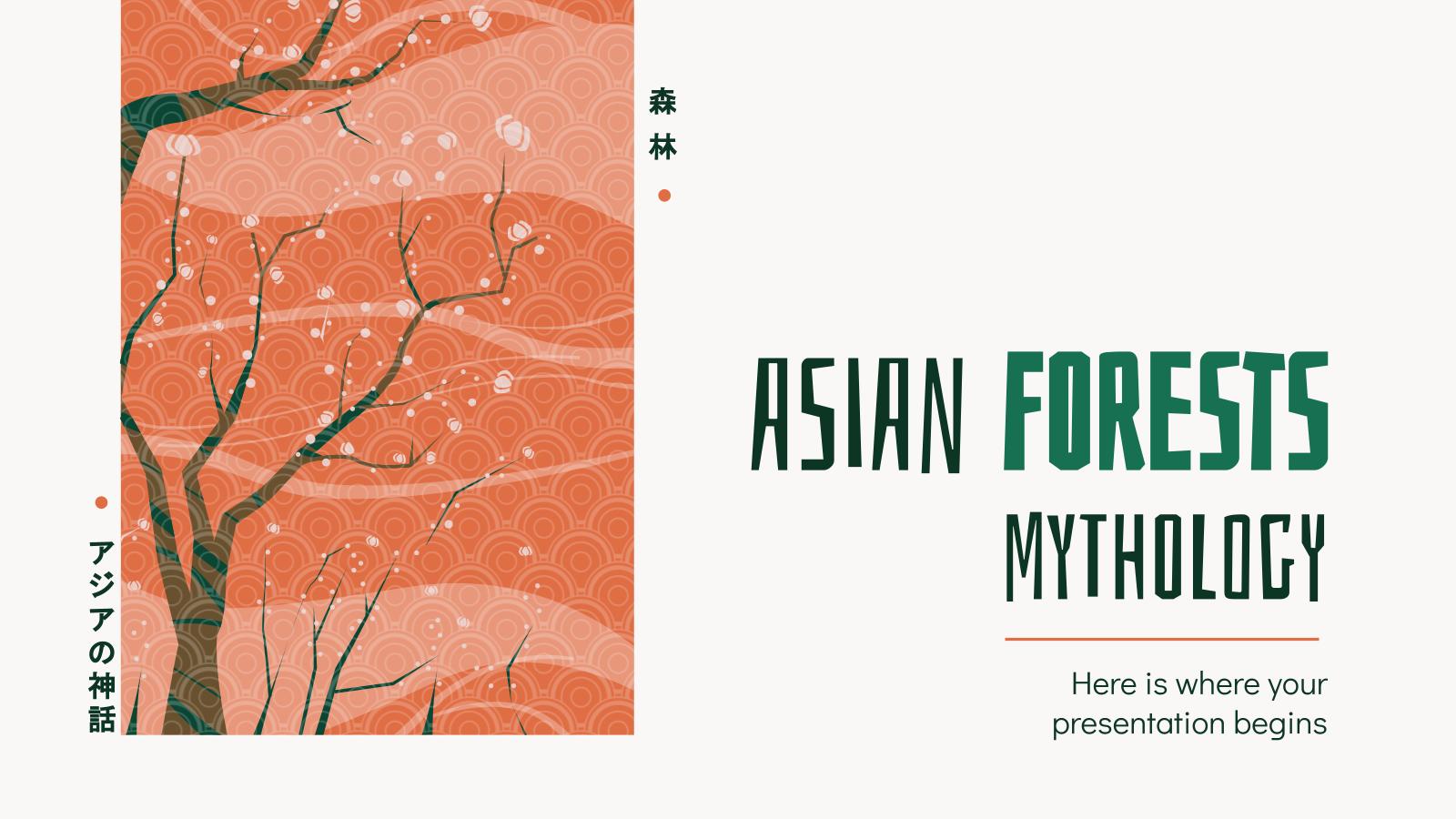 Plantilla de presentación Bosques y divinidades asiáticas