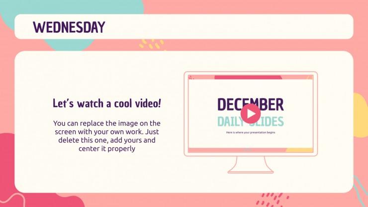 December Daily Slides presentation template