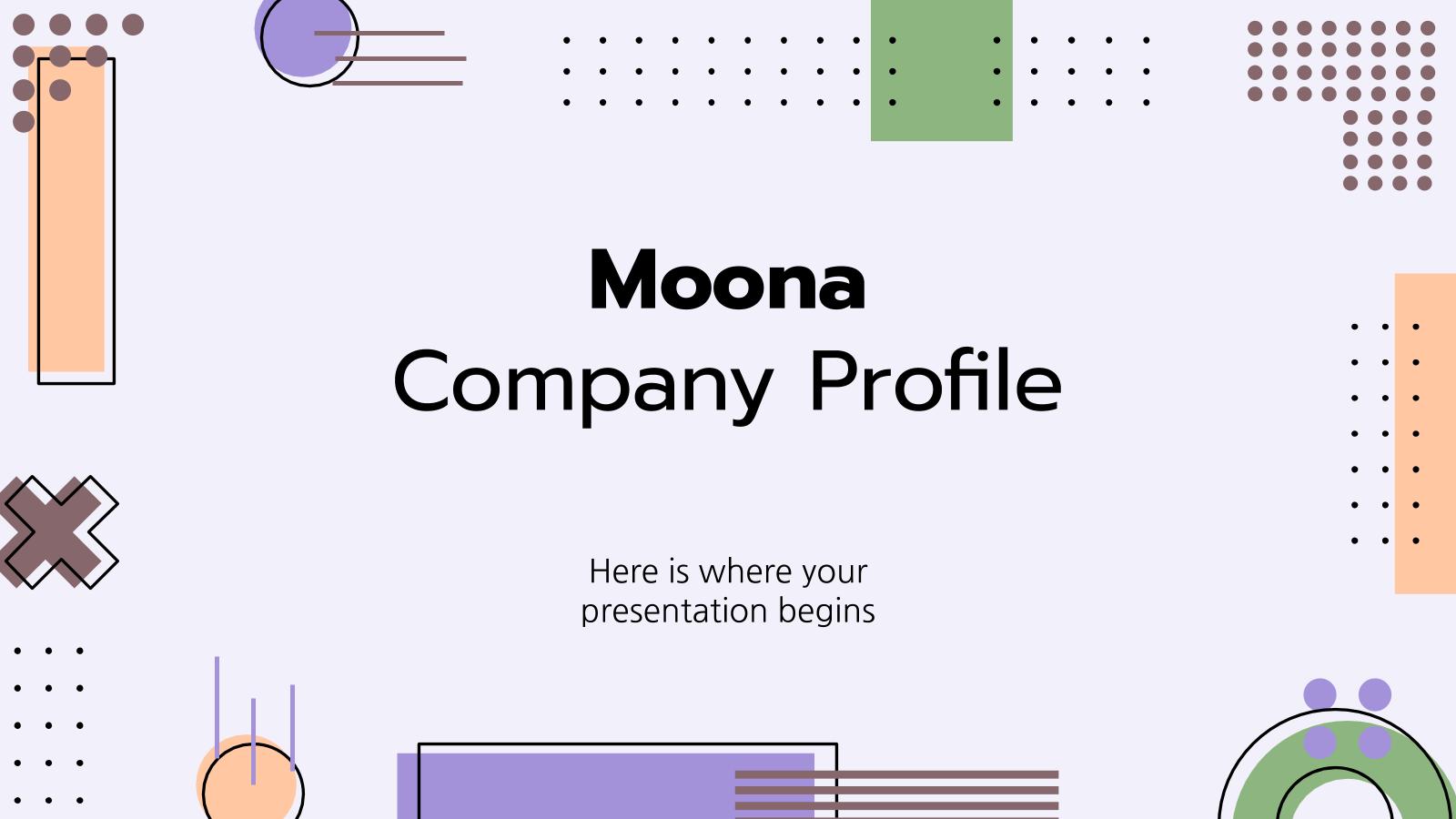 Plantilla de presentación Perfil de empresa Moona