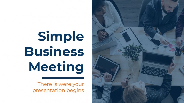 Simple Business Meeting presentation template