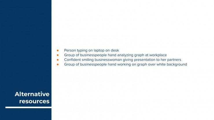 Einfaches Business Meeting Präsentationsvorlage