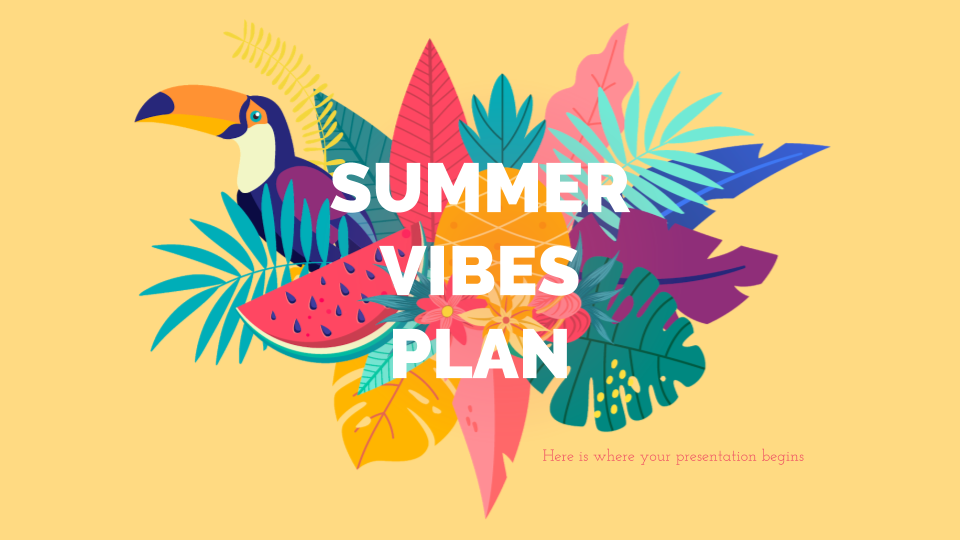 Summer Vibes Marketing Plan presentation template