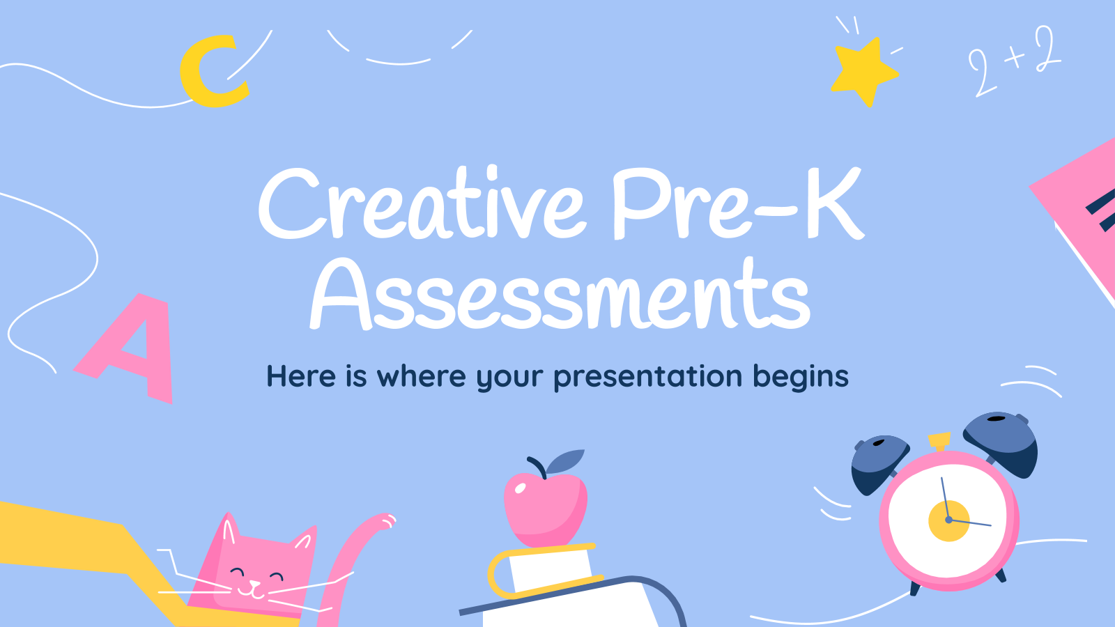 Plantilla de presentación Actividades creativas para preescolar