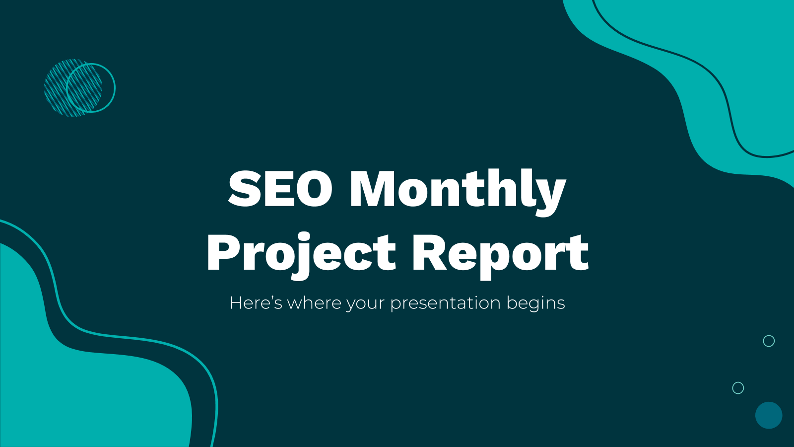 SEO Monthly Project Report presentation template