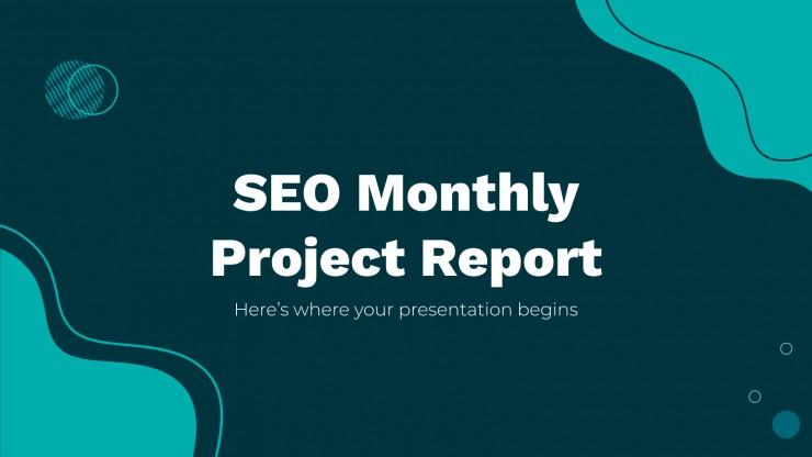 Modelo de apresentação Relatório mensal de SEO