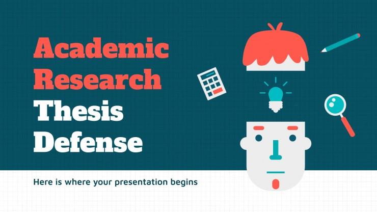Plantilla de presentación Academic Research Thesis Defense