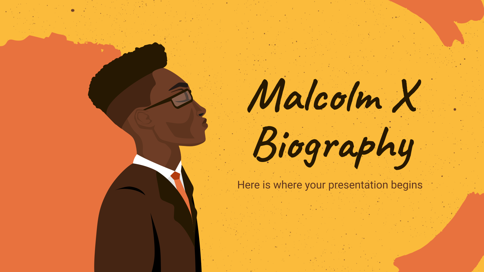 Malcolm X Biography presentation template