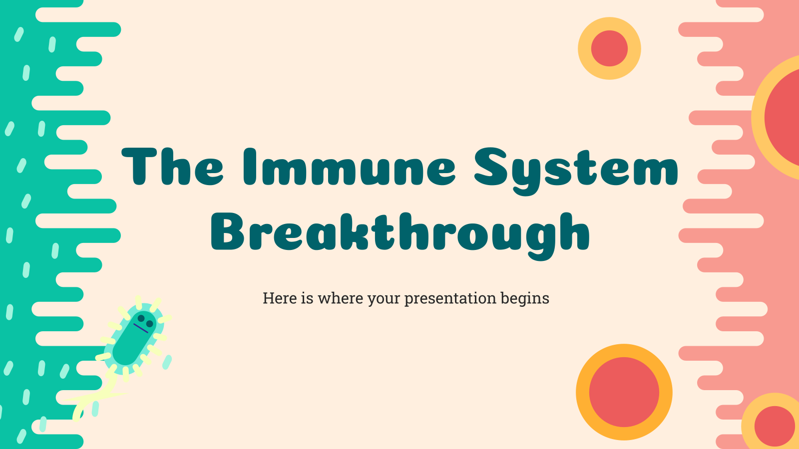 The Immune System Breakthrough presentation template