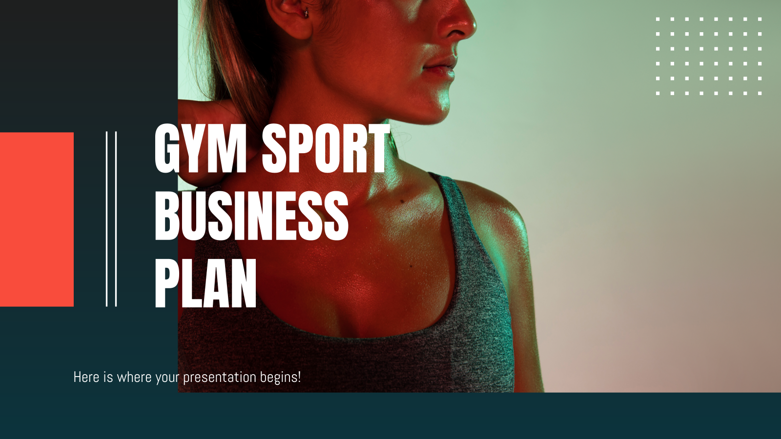 Gym Sport Business Plan presentation template