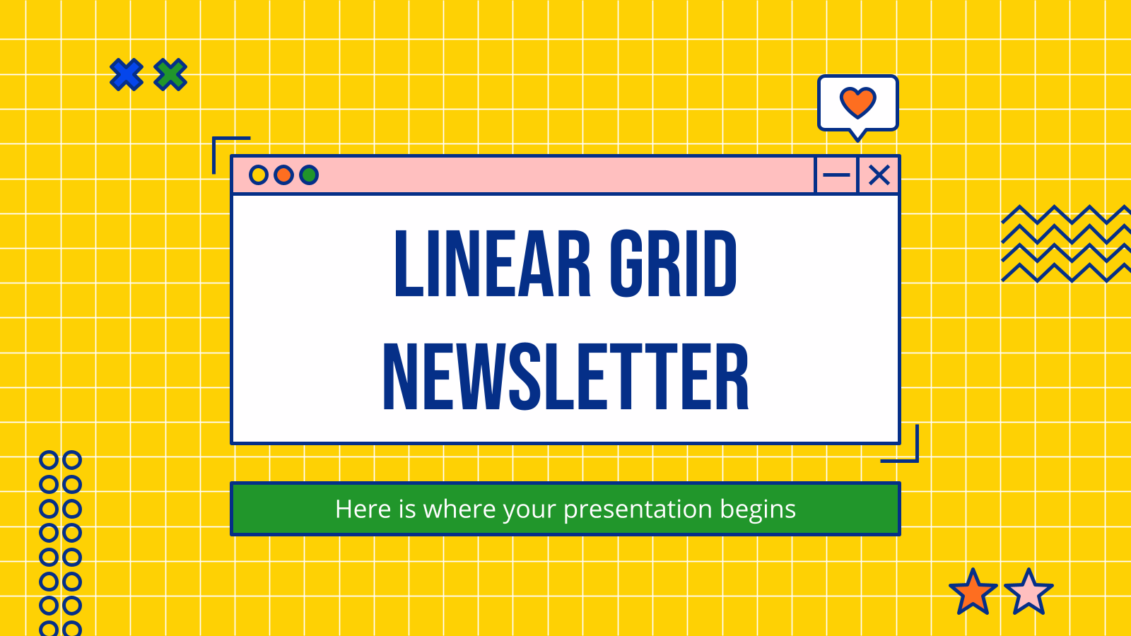 Linear Grid Newsletter presentation template