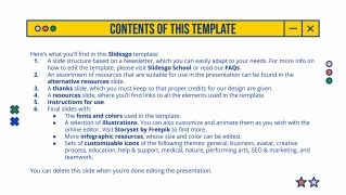 Linear Grid Newsletter presentation template