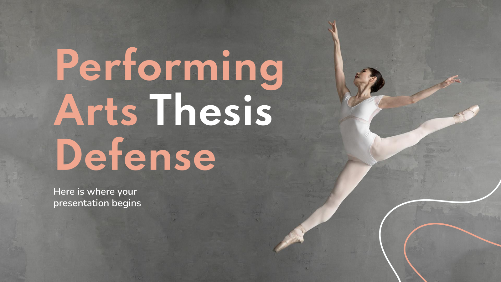 Performing Arts Thesis Defense presentation template