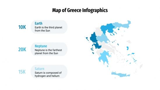 Map of Greece Infographics presentation template