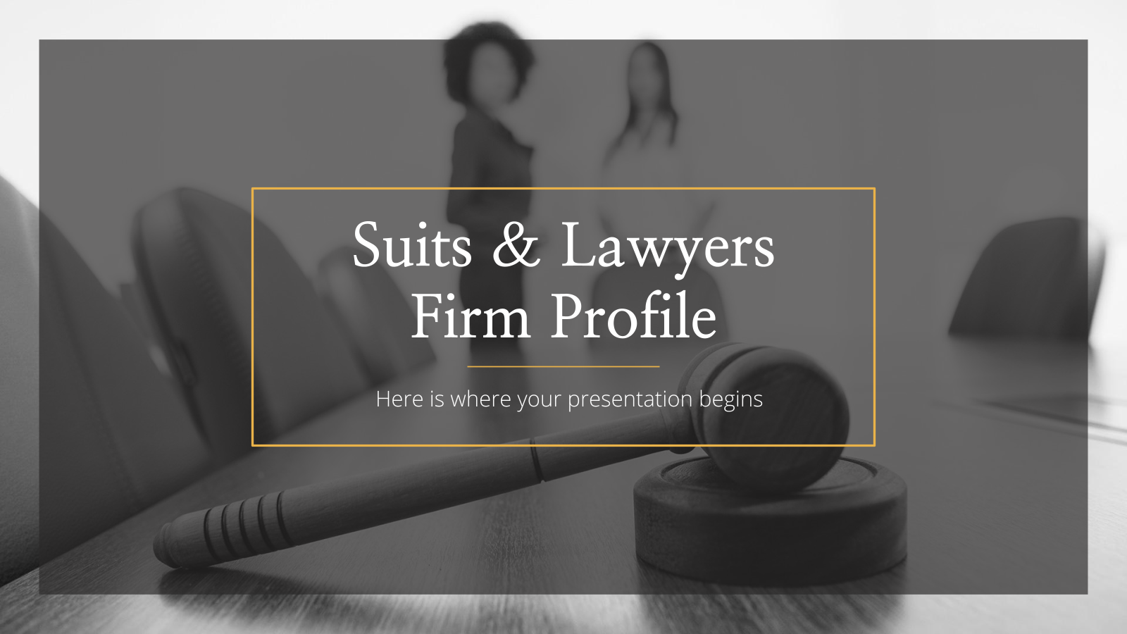 Modelo de apresentação Perfil de escritório de advocacia